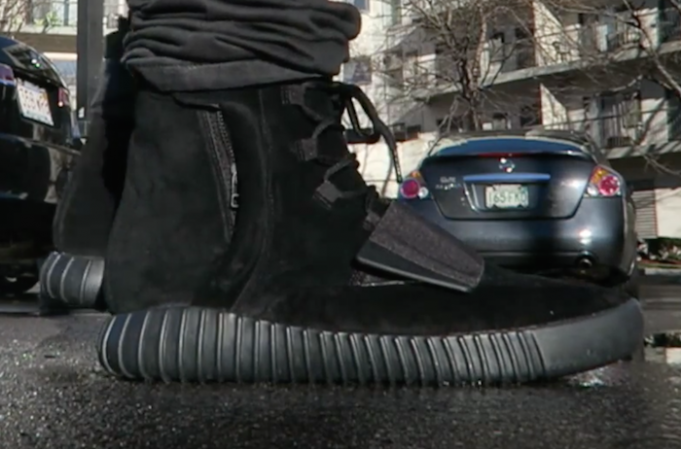 Black Yeezy 750 On Feet
