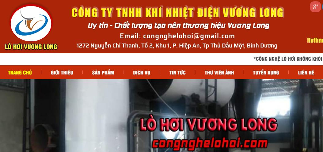 Vương Long - công ty sản xuất nồi hơi